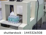Small photo of Shrink film wrapping machine for bottle of water. Food industry