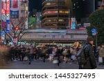 tokyo  japan   feb 2019  ... | Shutterstock . vector #1445327495