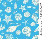 pattern of different black sea...   Shutterstock .eps vector #1445346632
