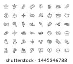 money and finance. set of icons.... | Shutterstock .eps vector #1445346788