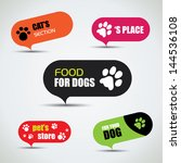dog and cat labeled pet store... | Shutterstock .eps vector #144536108