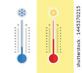 thermometer equipment showing... | Shutterstock .eps vector #1445370215