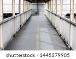 old overpass in the city with... | Shutterstock . vector #1445379905