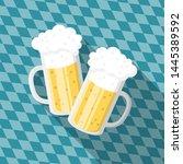 toasting beer glasses on... | Shutterstock .eps vector #1445389592