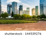 city and grass with blue sky | Shutterstock . vector #144539276