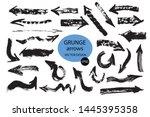set of different grunge brush... | Shutterstock .eps vector #1445395358