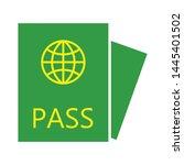 identity card icon. logo... | Shutterstock .eps vector #1445401502
