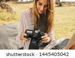 close up of a woman...   Shutterstock . vector #1445405042