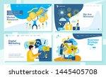set of landing page design... | Shutterstock .eps vector #1445405708