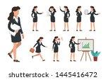 businesswoman character set.... | Shutterstock .eps vector #1445416472