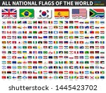 all national flags of the world ... | Shutterstock .eps vector #1445423702