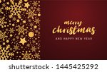 merry christmas and happy new... | Shutterstock .eps vector #1445425292