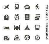 traveling and transport icons... | Shutterstock .eps vector #144545162