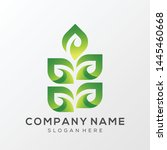leaf logo illustration premium... | Shutterstock .eps vector #1445460668