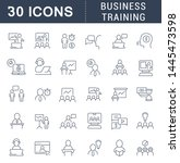 set of vector line icons of... | Shutterstock .eps vector #1445473598