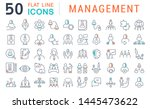 set of vector line icons of...   Shutterstock .eps vector #1445473622