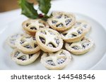 Closeup Of Christmas Mince Pie...