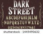 alphabet font script typeface...   Shutterstock .eps vector #1445490632
