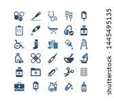 medical supplies flat vector... | Shutterstock .eps vector #1445495135