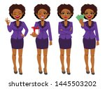 beautiful young african...   Shutterstock .eps vector #1445503202