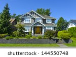 luxury family house with... | Shutterstock . vector #144550748