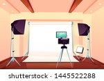 photo or video studio workshop...   Shutterstock .eps vector #1445522288