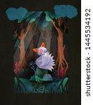 nine taled fox or kumiho... | Shutterstock .eps vector #1445534192