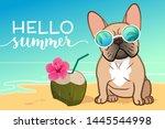french bulldog puppy wearing... | Shutterstock .eps vector #1445544998