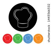 chef hat icon cook chefs hat... | Shutterstock .eps vector #1445566532