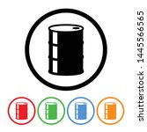 simple oil drum oil barrel icon ... | Shutterstock .eps vector #1445566565