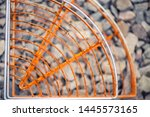 rusty texture on background of... | Shutterstock . vector #1445573165