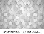 science technology hexagonal... | Shutterstock . vector #1445580668