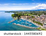 aerial view of morges castle in ...   Shutterstock . vector #1445580692