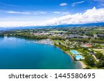 aerial view of morges city...   Shutterstock . vector #1445580695