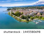 aerial view of morges city...   Shutterstock . vector #1445580698