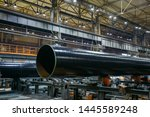 pipe factory production line ...   Shutterstock . vector #1445589248