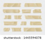 adhesive tape set. sticky paper ... | Shutterstock .eps vector #1445594078