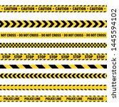 yellow and black barricade... | Shutterstock .eps vector #1445594102