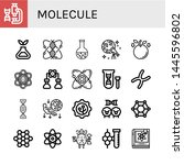 set of molecule icons such as... | Shutterstock .eps vector #1445596802