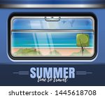 sea and the beach outside the... | Shutterstock .eps vector #1445618708