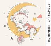 vector illustration of a cute... | Shutterstock .eps vector #1445634128