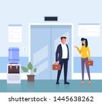 business people man and woman... | Shutterstock .eps vector #1445638262