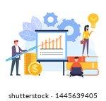 successful business teamwork... | Shutterstock .eps vector #1445639405