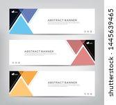 abstract web banner template ...   Shutterstock .eps vector #1445639465