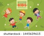 vector illustration of children ... | Shutterstock .eps vector #1445639615