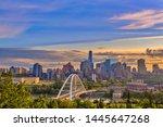 A Vibrant View Of The Edmonton Skyline