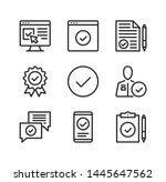 approve vector line icons.... | Shutterstock .eps vector #1445647562