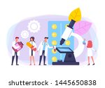 medicine researching test.... | Shutterstock .eps vector #1445650838