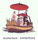 illustration of traditional... | Shutterstock .eps vector #1445655242