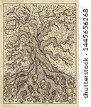 tree. mystic concept for... | Shutterstock .eps vector #1445656268